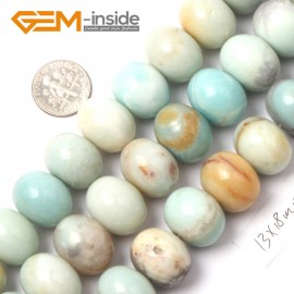 "G9022 13x18mm Smooth Rondelle Mixed Amazonite Jewelry Making Gemstone Beads 15"" Natural Stone Beads for Jewelry Making Wholesale"