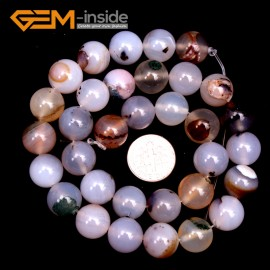 """G9213 12mm Natural Round Gemstone Gray Banded Agate Beads Jewelry Making Loose Beads15"""" Natural Stone Beads for Jewelry Making Wholesale"""