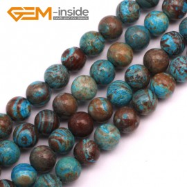 "G9227 4mm Round Smooth Gemstone Blue Crazy Lace Agate DIY Crafts Jewelry Making Beads 15"" Natural Stone Beads for Jewelry Making Wholesale"