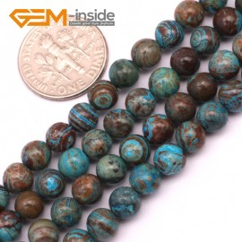 "G9228 6mm Round Smooth Gemstone Blue Crazy Lace Agate DIY Crafts Jewelry Making Beads 15"" Natural Stone Beads for Jewelry Making Wholesale"
