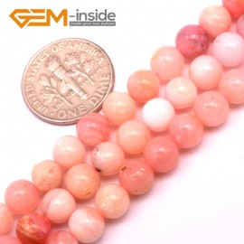 "G9236 6mm Natural Round Gemstone Pink Opal DIY Crafts Jewelry Making Loose Beads15""6-10mm Natural Stone Beads for Jewelry Making Wholesale"