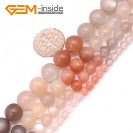 "G9243 4mm Round Gemstone Moonstone DIY Jewelry Crafts Making Loose Beads Strand15"" 4-10mm Natural Stone Beads for Jewelry Making Wholesale"