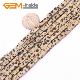 "G9271 Dalmatian 4x13mm Cuboid Gemstone DIY Crafts Jewelry Making Loose Stone Beads Strand 15"" Natural Stone Beads for Jewelry Making Wholesale"