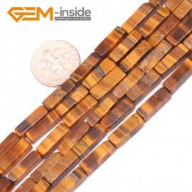 "G9273 Tiger eye 4x13mm Cuboid Gemstone DIY Crafts Jewelry Making Loose Stone Beads Strand 15"" Natural Stone Beads for Jewelry Making Wholesale"