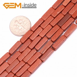 "G9275 Gold sand stone 4x13mm Cuboid Gemstone DIY Crafts Jewelry Making Loose Stone Beads Strand 15"" Natural Stone Beads for Jewelry Making Wholesale"