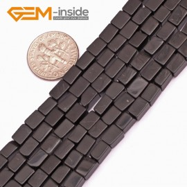 "G9278 Black Agate 4x6mm Square Gemstone DIY Crafts Jewelry Making Loose Beads15""  2 Materials Pick Natural Stone Beads for Jewelry Making Wholesale"