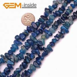 "G9294 blue banded agate 8-10x12-14mm Freeform Potato Gemstone Jewelry Making Loose Beads Strand 15"" Natural Stone Beads for Jewelry Making Wholesale"