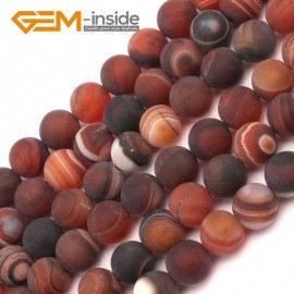 "G9389 10mm Brown Round Frost Gemstone Agate Beads DIY Jewelry Maing Loose Beads Strand 15"" Natural Stone Beads for Jewelry Making Wholesale`"