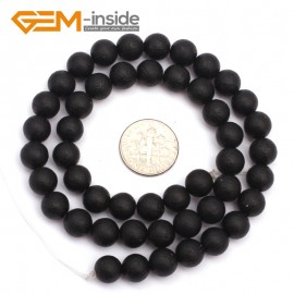 """G9392 8mm Round Black Frost Gemstone Jewelry Making Spacer Agate Beads15""""8 10 12 14mm Pick Natural Stone Beads for Jewelry Making Wholesale"""