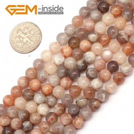 "G9402 6mm Round Smooth Mixed Color Sun Stone Beads Jewelry Making Loose Beads 15"" Natural Stone Beads for Jewelry Making Wholesale`"