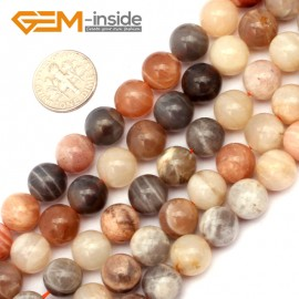 "G9404 10mm Round Smooth Mixed Color Sun Stone Beads Jewelry Making Loose Beads 15"" Natural Stone Beads for Jewelry Making Wholesale`"