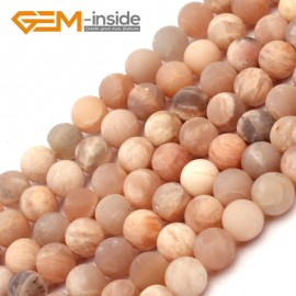 "G9406 6mm Frosted Natural Round Frost Sun Stone DIY Jewelry Making Loose Beads 15"" Free Shipping Natural Stone Beads for Jewelry Making Wholesale`"