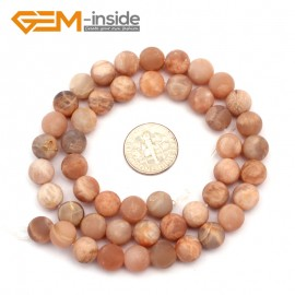 "G9407 8mm Frosted Natural Round Frost Sun Stone DIY Jewelry Making Loose Beads 15"" Free Shipping Natural Stone Beads for Jewelry Making Wholesale`"