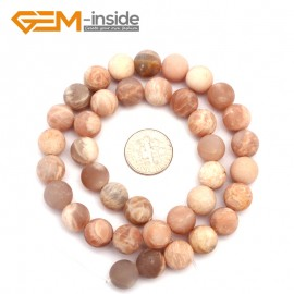 "G9408 10mm Frosted Natural Round Frost Sun Stone DIY Jewelry Making Loose Beads 15"" Free Shipping Natural Stone Beads for Jewelry Making Wholesale`"
