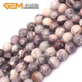 "G9420 8mm Round Smooth Gemstone Purple Flower Agate Jewelry Making Loose Beads Strand 15"" Natural Stone Beads for Jewelry Making Wholesale`"