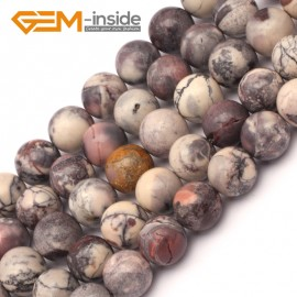 "G9421 10mm Round Smooth Gemstone Purple Flower Agate Jewelry Making Loose Beads Strand 15"" Natural Stone Beads for Jewelry Making Wholesale`"