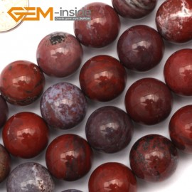 "G9442 14mm Round Smooth Gemstone Red Flower Agate Jewelry Making Beads Strand 15"" Natural Stone Beads for Jewelry Making Wholesale`"