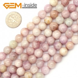 "G9443 8mm Round Purple Spodumene Jewelry Making Stone Loose Beads Strand 15"" Natural Stone Beads for Jewelry Making Wholesale"