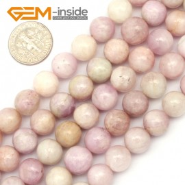 "G9444 10mm Round Purple Spodumene Jewelry Making Stone Loose Beads Strand 15"" Natural Stone Beads for Jewelry Making Wholesale"