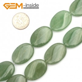 "G9463 Green/Aventurine (Twist) 18x25mm Oval Twist Gemstone Jewelry Making Stone Loose Beads Strand 15"" Natural Stone Beads for Jewelry Making Wholesale"