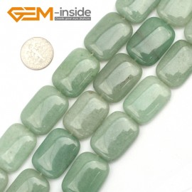 "G9494 Green/Aventurine Jade 18x26mm Rectangle Gemstone Jewelry Making Stone Loose Beads Strand 15"" Natural Stone Beads for Jewelry Making Wholesale"