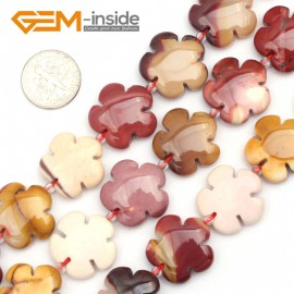 "G9504 20mm Flower Natural Gemstone Mookaite Jasper Beads Jewelry Making Loose Beads 15"" Gbeads Natural Stone Beads for Jewelry Making Wholesale"