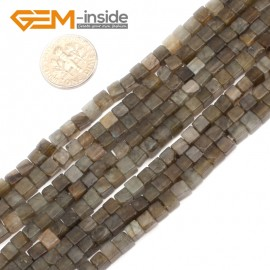 "G9581 Labradorite 4mm Square Smooth Gemstone DIY Jewelry Making Loose Beads 15"" 3 Materials Select Natural Stone Beads for Jewelry Making Wholesale`"