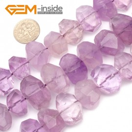 "G9586 Ametrine (Faceted) 15-18mm Freefrom DIY Jewelry Making Natural Gemstone Loose Beads Strand 15"" Natural Stone Beads for Jewelry Making Wholesale`"