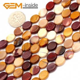 "G9623 8x10mm Oval Natural Gemstone Mookaite Jasper Jewelry Making Loose Beads 15""Pick Size Natural Stone Beads for Jewelry Making Wholesale"