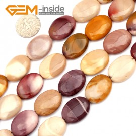 "G9624 15x20mm Oval Natural Gemstone Mookaite Jasper Jewelry Making Loose Beads 15""Pick Size Natural Stone Beads for Jewelry Making Wholesale"