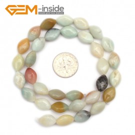 "G9669 8x12mm Marquise Natural Amazonite Gemstone DIY Jewelry Making Loose Beads strand 15"" Pick Size Natural Stone Beads for Jewelry Making Wholesale"