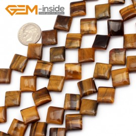 G9715 12mm (Diagonal) Gemstone Yellow Tiger Eye Jewelry Making Beads Strand 15 Gbeads Natural Stone Beads for Jewelry Making Wholesale